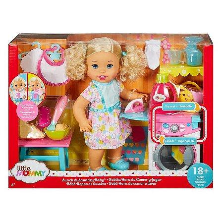 Boneca Little Mommy - Hora de Comer e Lavar - Mattel
