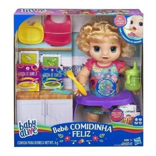 Boneca Baby Alive - Comidinha Feliz - Loira - Hasbro