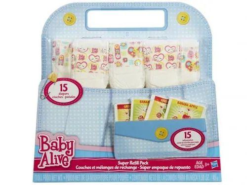 Baby Alive - Super Refil - 15 Fraldas + 15 Comidinhas - Hasbro