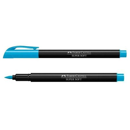 Caneta Brush - Supersoft - Azul - Faber Castell