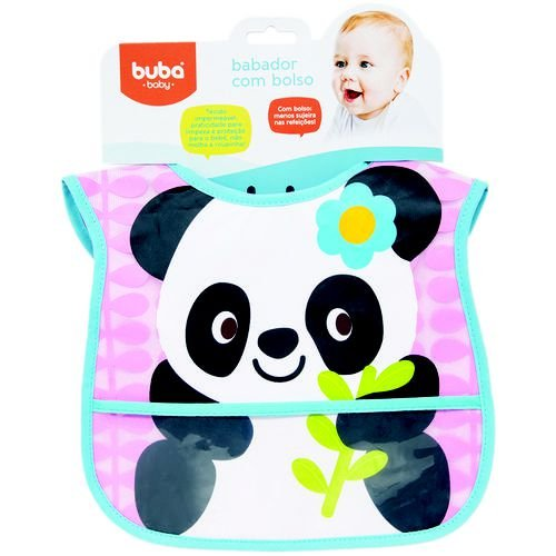 Babador Com Bolsa - Panda - Buba