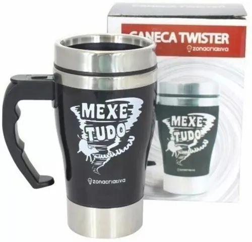 Caneca Mixer - Mexe Tudo - Preta - Zona Criativa
