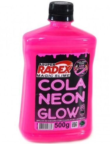 Cola Neon - Rosa - Para Slime - Radex