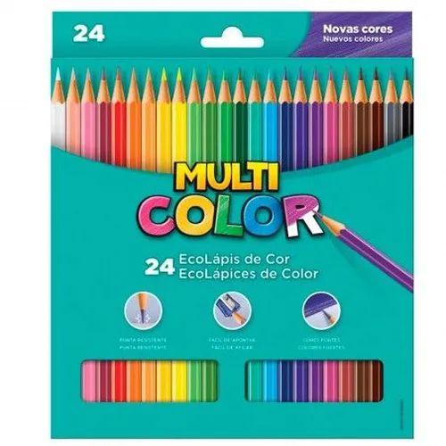 Lápis De Cor - 24 cores - Multicolor