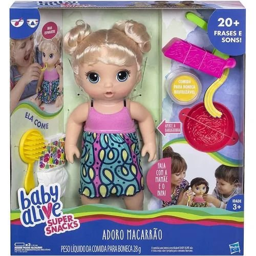 Boneca Baby Alive - Adoro Macarrão - Loira - Hasbro