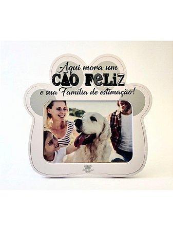 Porta-retrato - Pata: Aqui Mora Um Cão Feliz - Zenir Disarz