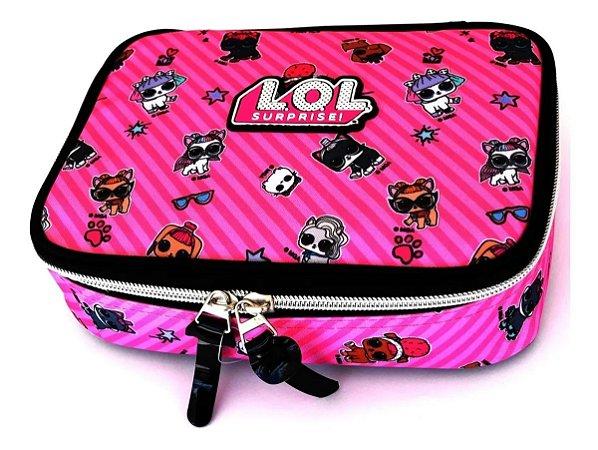 Estojo 100 Pens - Lol Surprise - Rosa - Luxcel