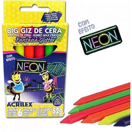 Big Giz de Cera - Neon - 6 cores - Acrilex