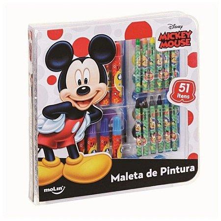Maleta de Pintura - Mickey Mouse - 51 Itens - Molin