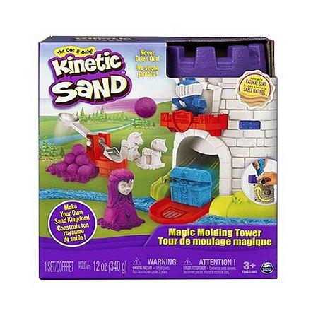 Massa Areia - Torre Mágica - Spin Master Kinetic Sand - Sunny