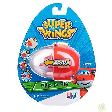 Mini Veículo - Super Wings - Flip And Fly - Jett - Fun