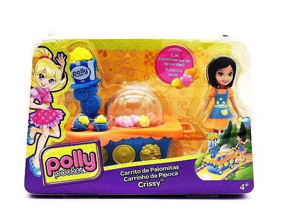 Boneca Polly Pocket - Carrinho De Pipoca Da Crissy - Mattel
