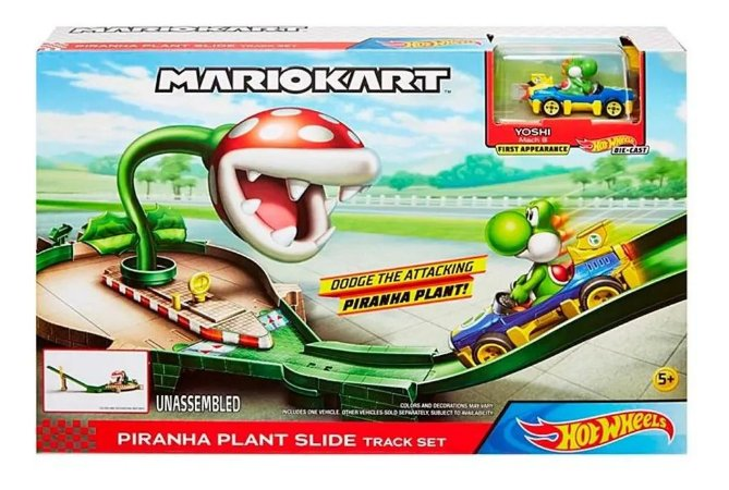 Pista Hot Wheels - Mario Kart - Nemesis Track - Mattel
