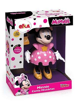 Boneca Minnie - Conta Histórias - Rosa - Elka