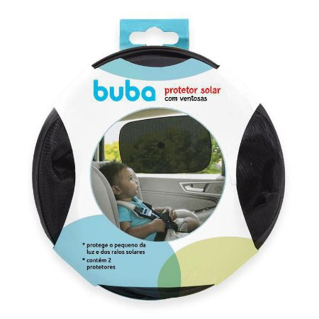 Protetor Solar com Ventosa - 2 un - Preto - Buba
