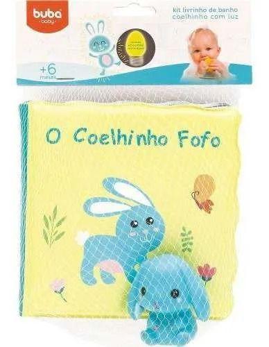 Kit Livrinho de Banho - Coelhinho - com Luz - Buba