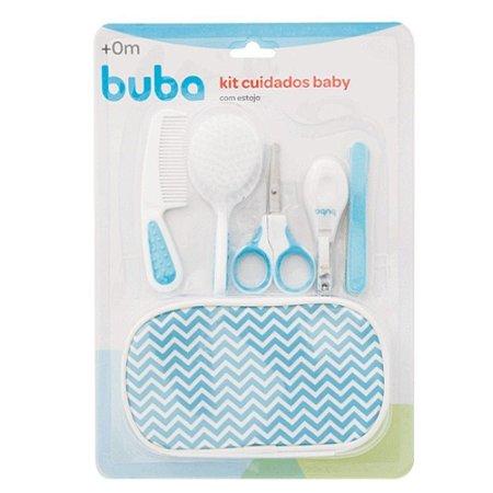 Kit Cuidados Higiene Baby - com Estojo - Azul - Buba