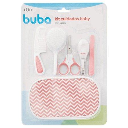 Kit Cuidados Higiene Baby - com Estojo - Rosa - Buba