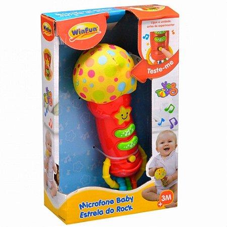 Microfone Baby - Estrela do Rock - YesToys