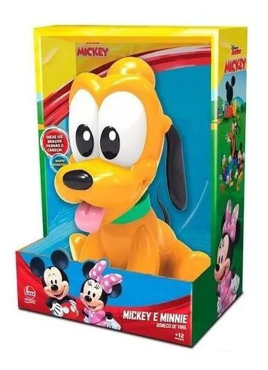 Boneco Pluto - Vinil - Baby - Lider