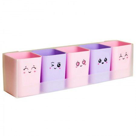 Porta Caneta - Kit Doçura Candy Collor - 5 objetos - Dello