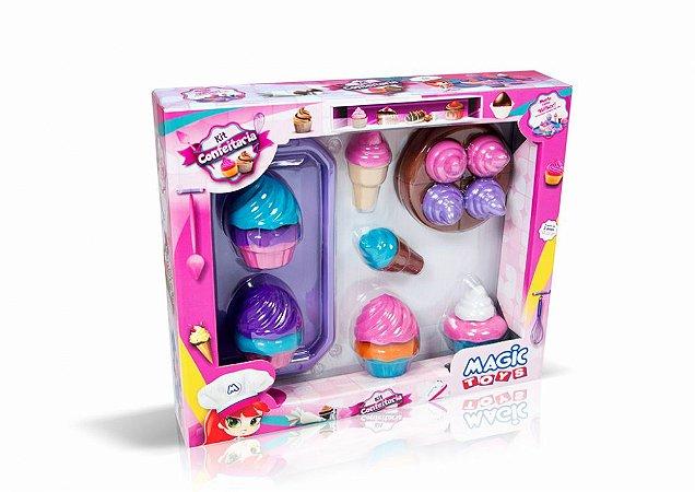 Kit Confeitaria - Cupcake e Sorvete - Magic Toys