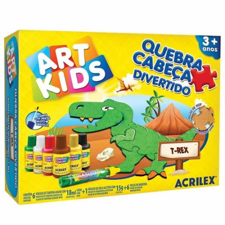 Quebra-Cabeça Divertido - T-Rex - Art Kids - Acriliex
