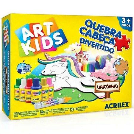 Quebra-Cabeça Divertido - Unicórnio - Art Kids - Acriliex