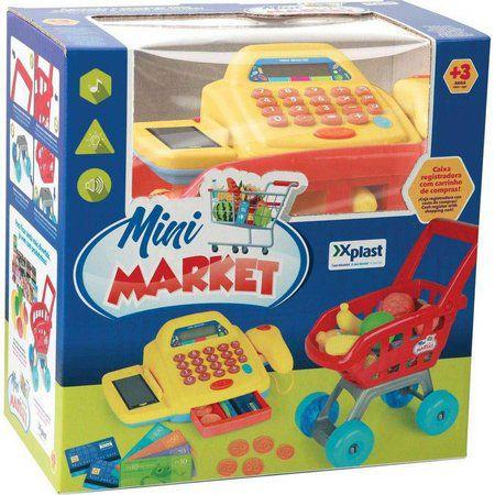 Mini Market - Caixa Registradora e Carrinho de Compras - X Plast
