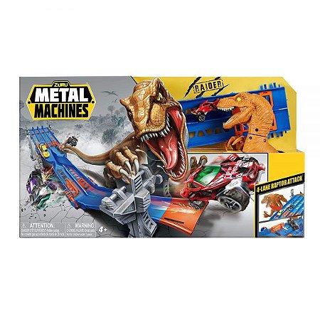 Pista de Corrida - Metal Machines 4 Lane Raptor Attack - Candide