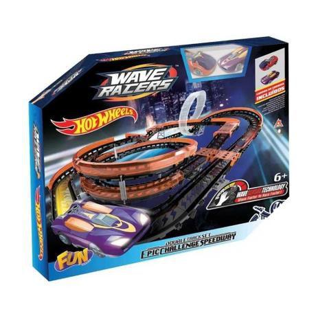 Pista Hot Wheels - Epic Challenge - Wave Racers  - Fun