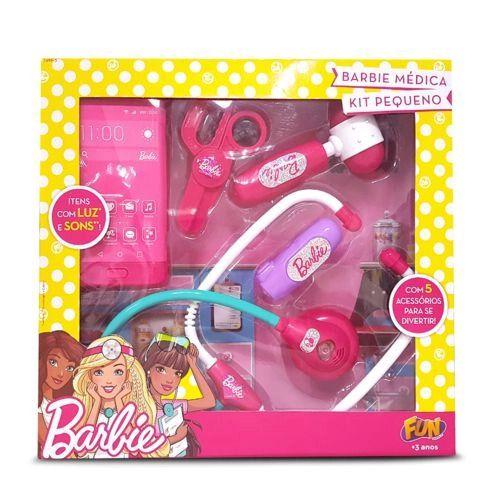 Kit Barbie Médica - Luz e sons - 5 Peças - Fun
