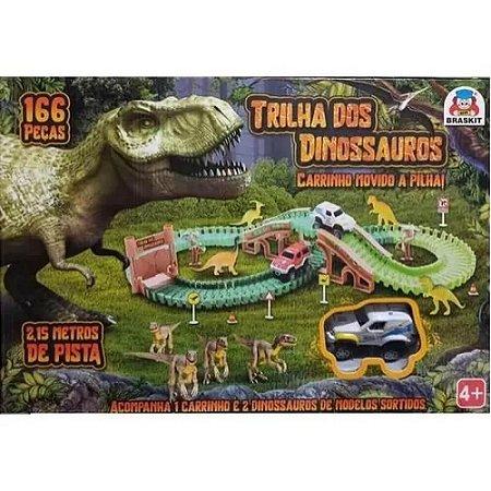 Pista - Trilha dos Dinossauros - 166 peças - Braskit