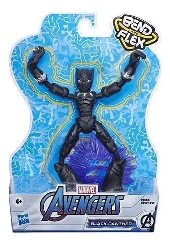 Boneco Pantera Negra - Bend and Flex - Marvel - Hasbro