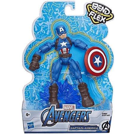 Boneco Capitão América - Bend and Flex - Marvel - Hasbro