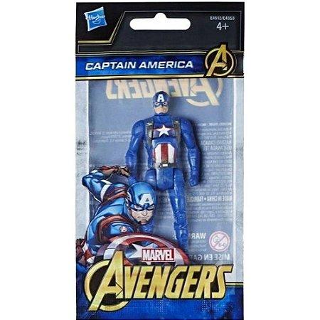 Mini Boneco Capitão América - 10 cm - Avengers - Marvel - Hasbro