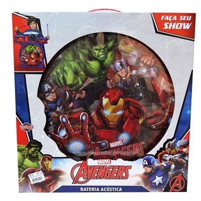 Bateria Acústica Infantil - Avengers - Toyng