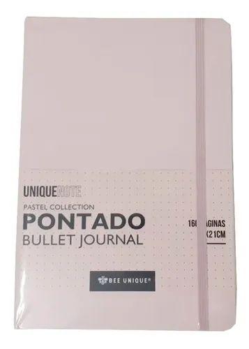 Caderno Bollet Journal - Pontado  - Rosa Pastel - A5 160 Folhas - Bee Unique