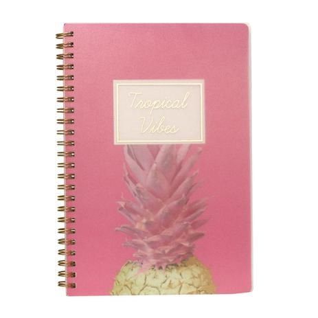 Caderno Espiral Pautado - Tropical Vibes - 80g A5 - 80 Folhas - Bee Unique