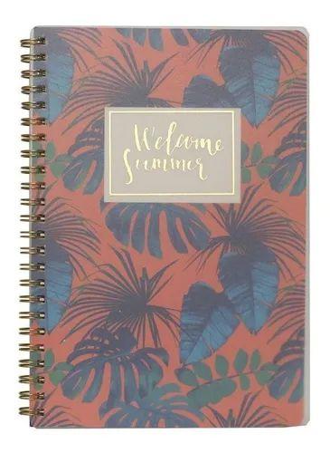 Caderno Espiral Pautado - Welcome Summer - 80g A5 - 80 Folhas - Bee Unique