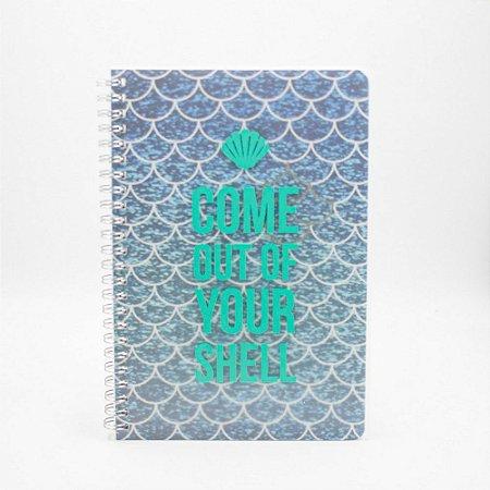 Caderno Espiral Pautado - Sereia - 80g A5 - 80 Folhas - Bee Unique
