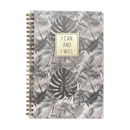 Caderno Espiral Pautado - I Can and I Will - 80g A5 - 80 Folhas - Bee Unique