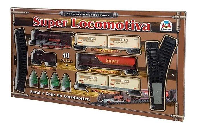 Super Locomotiva - com Farol e Som - Braskit