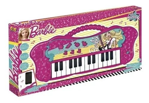 Teclado Glamouroso - Linha Musical Barbie - Fun