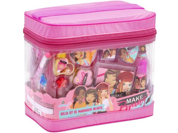 Bolsa Kit de Maquiagem Infantil - Make Brinq - Polibriq