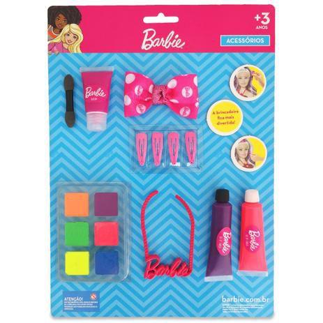 Cartela de Maquiagem e  Acessórios para Boneca - Barbie - Puppe