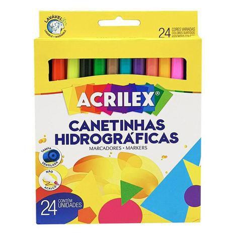 Caneta Hidrográficas - 24 Cores - Acrilex