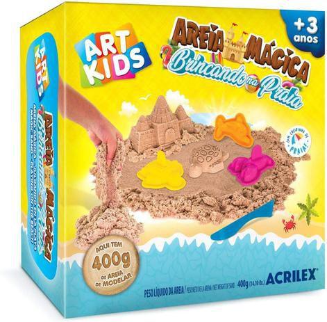 Areia Mágica - Brincando na Praia - Art Kids - Acrilex