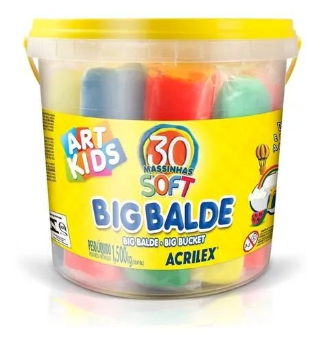 Big Balde - Massinhas Soft - 30 Unidades - Art Kids - Acrilex