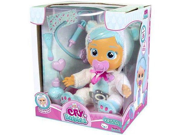 Boneca Cry Babies - Kristal - Amando e Cuidando - Multikids